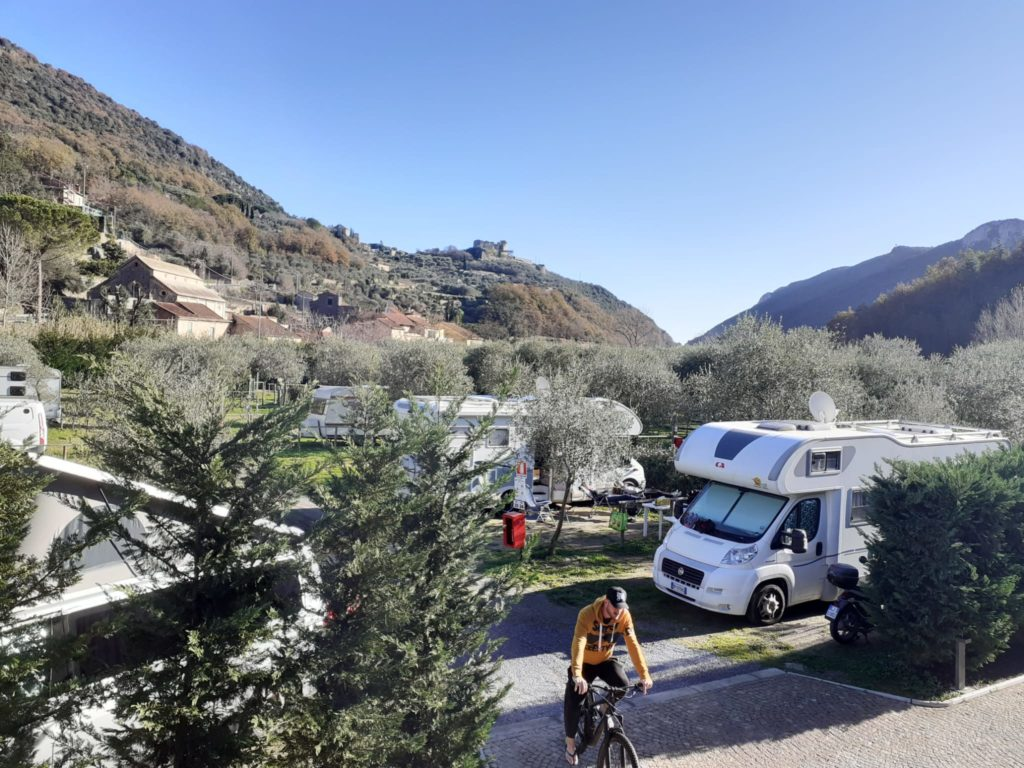 area sosta camper finale freeride